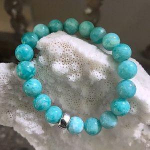 Gorgeous Amazonite beaded bracelet 🍀🍀